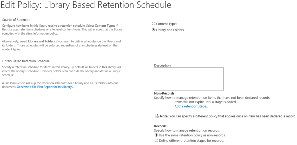 retention policy 2